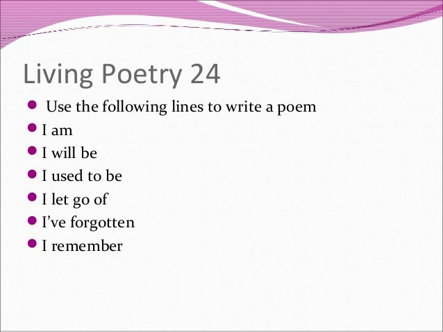 How to write a ballad poem about poetry