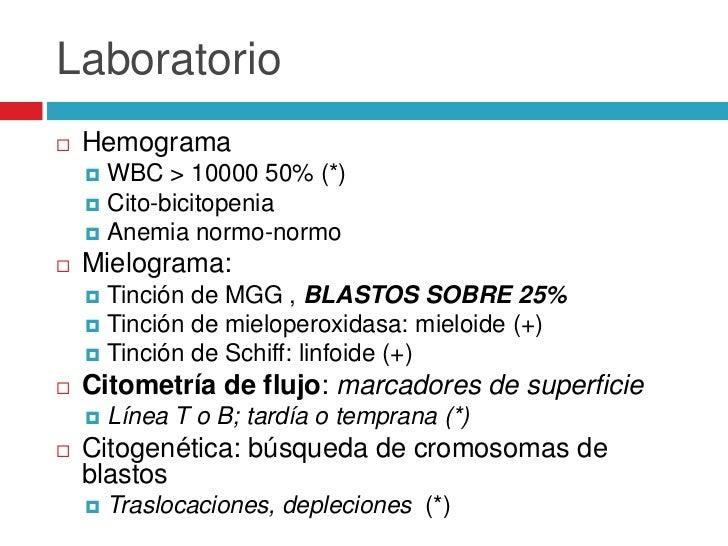 Urgencias en leucemia   Síndrome de lisis tumoral: saturación    sistema renal     Hiperuricemia     Hipocalcemia     ...