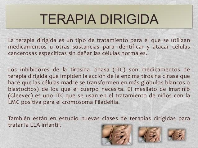 TERAPIA DIRIGIDA La terapia dirigida es un tipo de tratamiento para el que se utilizan medicamentos u otras sustancias par...