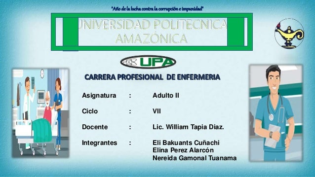 Asignatura : Adulto II Ciclo : VII Docente : Lic. William Tapia Diaz. Integrantes : Eli Bakuants Cuñachi Elina Perez Alarc...