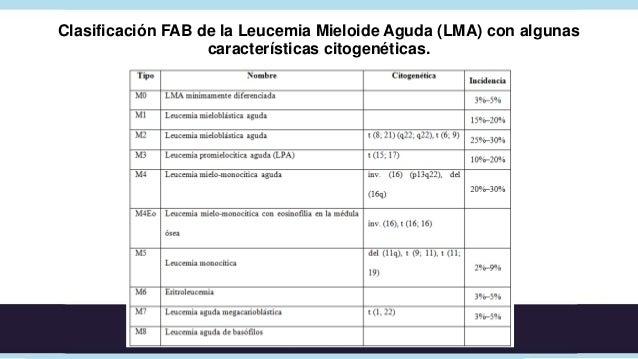 Leucemia Aguda• LMA: Esplenomegalia (5 cm), hiperplasia  gingival, S. Sweet, leucemia cutis (10%, M4 y  M5), sarcoma granu...