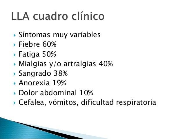  Anemia arregenerativa normo/normo  Trombocitopenia  Leucopenia, leucocitosis  Hiperleucocitosis 15%  Hipereosinofili...