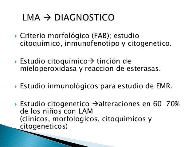  Anemia normo-normo  Trombocitopenia  Leucocitosis o leucopenia  CID mas frecuente en M3 por liberación de gránulos co...