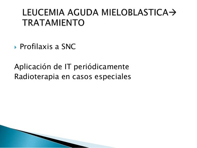  Hiperplasia mieloide M.O  Hematopoyesis extramedular  Leucocitosis y aparicion de precursores granulociticos en sangre...