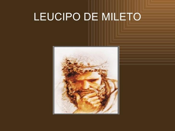 LEUCIPO DE MILETO