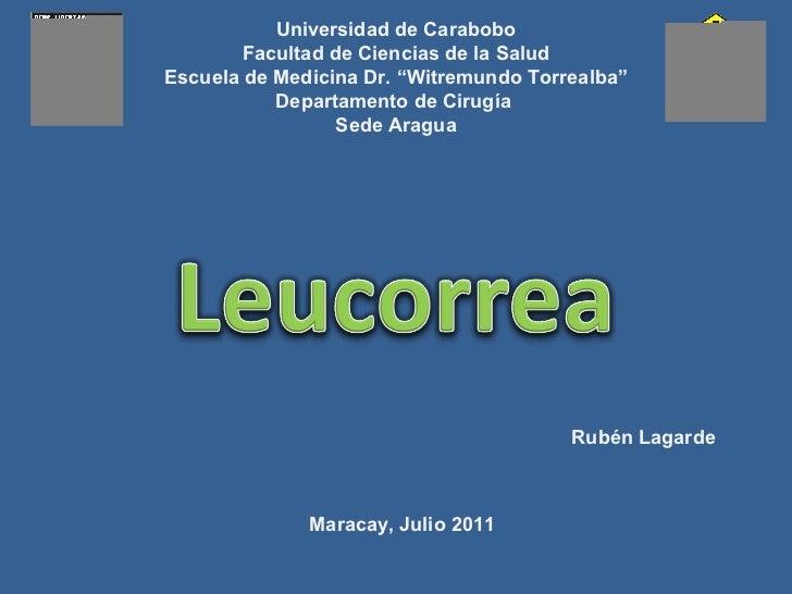 Leucorrea [autoguardado]