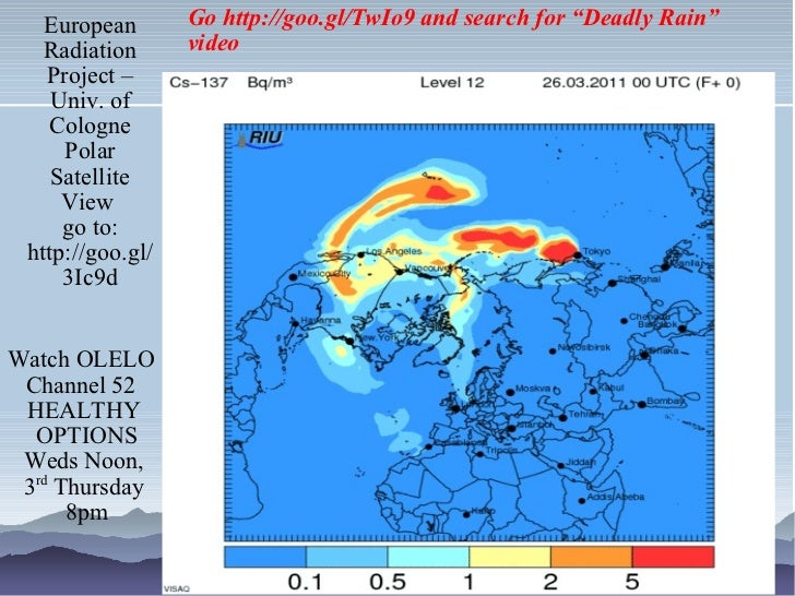 European Radiation Project – Univ. of Cologne Polar Satellite View  go to: http://goo.gl/3Ic9d Watch OLELO  Channel 52  HE...