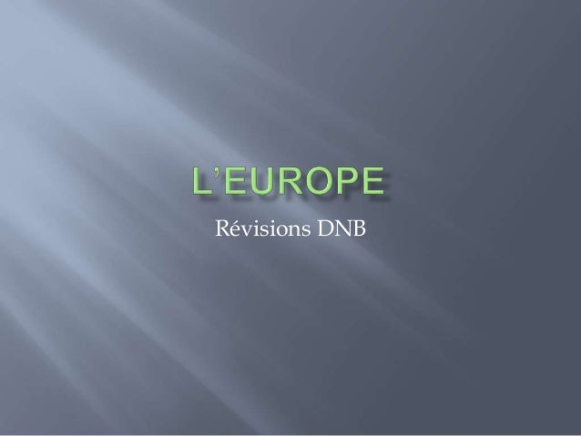 Révisions DNB
