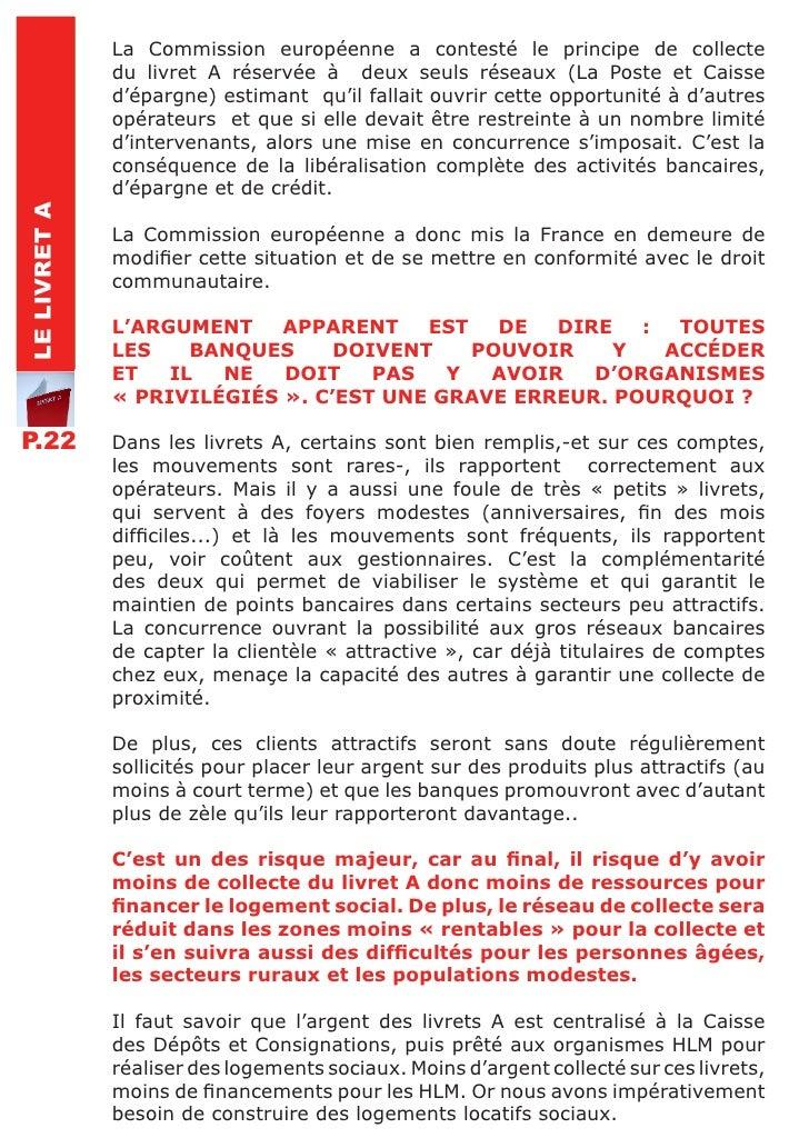 L 39 europe et le droit au logement - Plafond livret epargne logement caisse epargne ...
