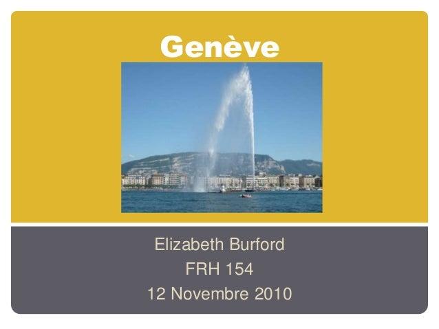 Genève Elizabeth Burford FRH 154 12 Novembre 2010
