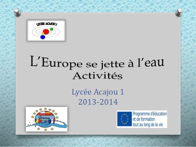 Lycée Acajou 1 2013-2014