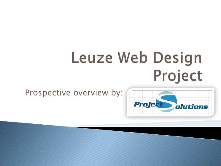 Leuze Web Design Project<br />Prospective overview by: 				<br />