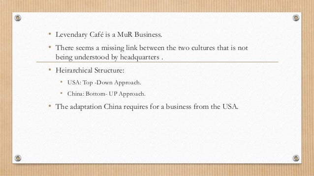 Levendary Cafe: The China Challenge Harvard Case Solution & Analysis