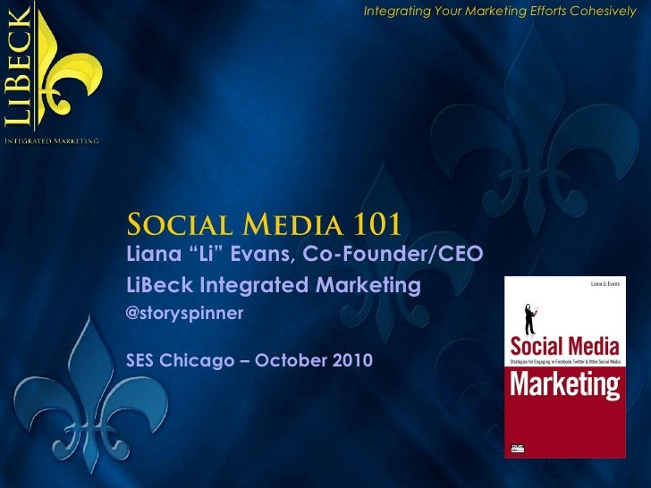 """Integrating Your Marketing Efforts Cohesively     Liana """"Li"""" Evans, Co-Founder/CEO LiBeck Integrated Marketing @storyspinn..."""