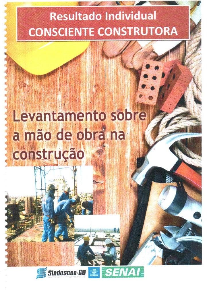 Levantamento da mão de obra na construção