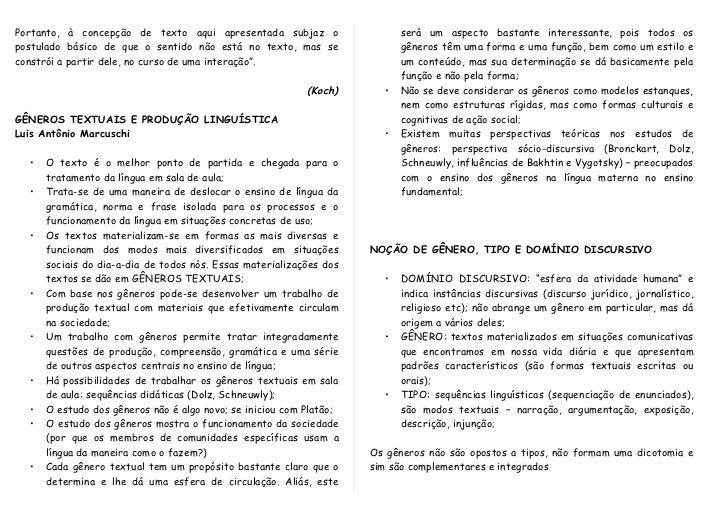 Levantamento de características de gêneros textuais Slide 2