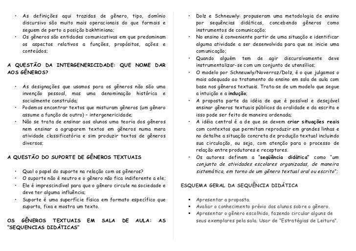 Levantamento de características de gêneros textuais Slide 3