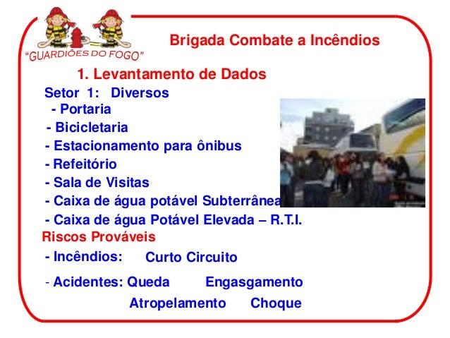 Brigada Combate a Incêndios     1. Levantamento de DadosSetor 1: Diversos  - Portaria - Bicicletaria- Estacionamento para ...