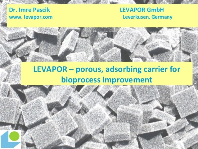 LEVAPOR – porous, adsorbing carrier for bioprocess improvement Dr. Imre Pascik LEVAPOR GmbH www. levapor.com Leverkusen, G...