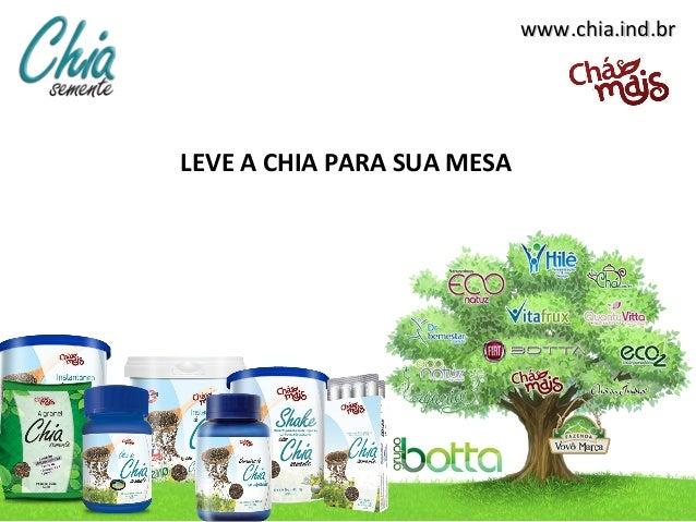 www.chia.ind.brwww.chia.ind.br LEVE A CHIA PARA SUA MESA