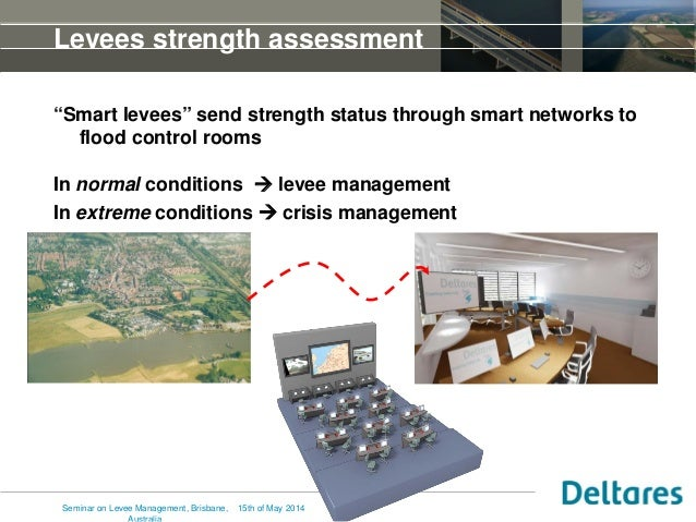"""17 Levees strength assessment """"Smart levees"""" send strength status through smart networks to flood control rooms In normal ..."""