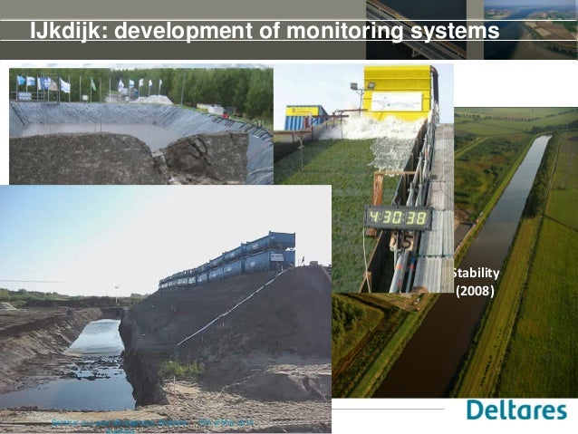19 IJkdijk: development of monitoring systems Stability (2008) Wave overtopping (2007) Piping test (2009) 15th of May 2014...