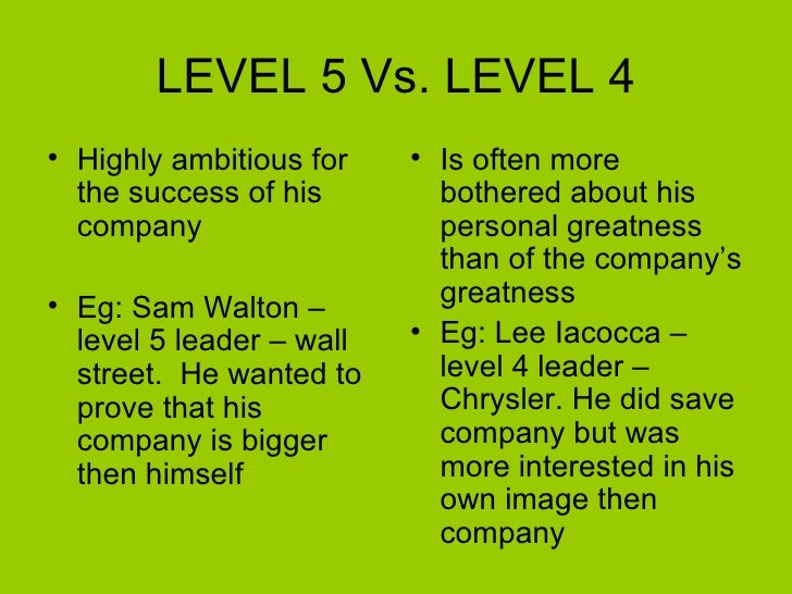 five level of leadership In this famous video from 2013, john maxwell explains the 5 levels of leadership according to maxwell himself, this leadership philosophy is developed to make you a more understanding and effective leader.