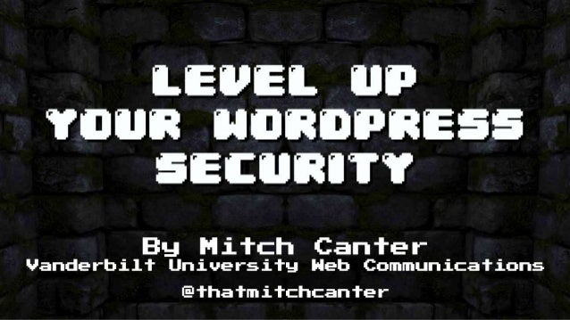 Level Up Your WordPress Security