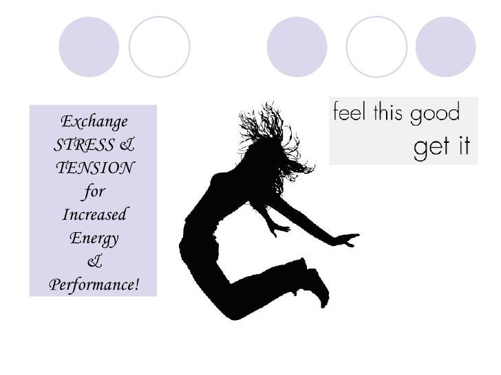 Exchange  STRESS &  TENSION      for   Increased    Energy      & Performance!
