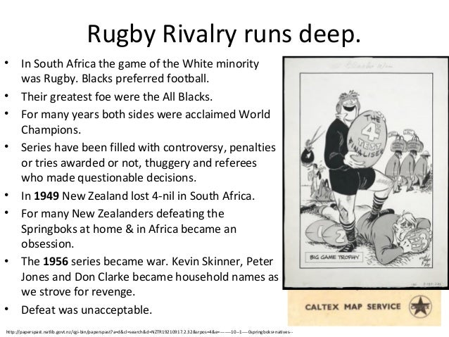 Rugby Rivalry runs deep. • • • •  • •  •  •  In South Africa the game of the White minority was Rugby. Blacks preferred fo...