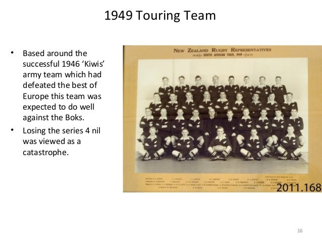 1949 Touring Team •  •  Based around the successful 1946 'Kiwis' army team which had defeated the best of Europe this team...