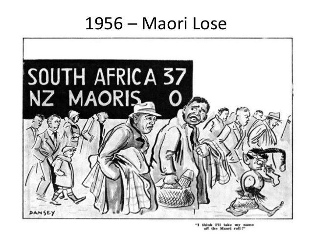 1956 – Maori Lose • Maori affairs minister Ernest Corbett told the 1956 Maori All Blacks they must not beat the Springboks...