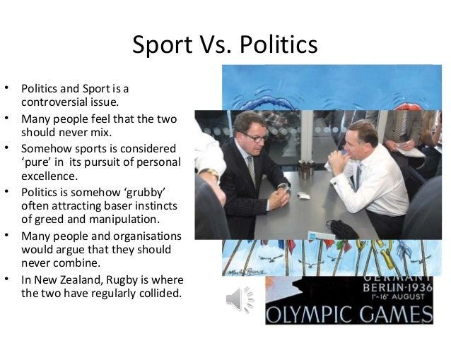 sports and politics Some say that politics and sports don't mix, but these athletes would beg to differ.