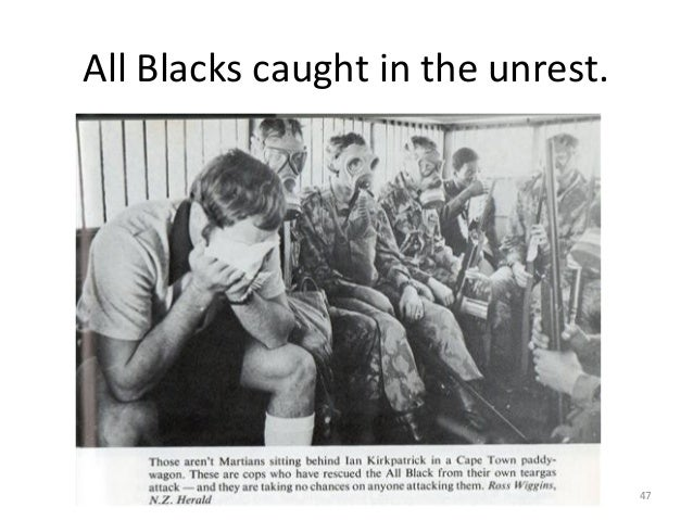 All Blacks caught in the unrest.  47