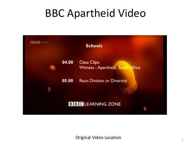 BBC Apartheid Video  Original Video Location  7