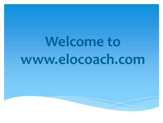 Welcome to www.elocoach.com