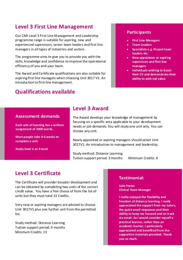 cmi level 7 unit 7006 Complete a unit study level is at post our cmi level 7 strategic management and leadership 7006 v1 reviewing organisational strategy plans and performance.