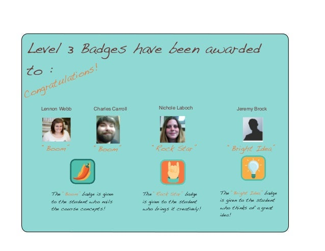 """Congratulations! Level 3 Badges have been awarded to : Lennon Webb """"Boom"""" The """"Boom"""" badge is given to the student who nai..."""