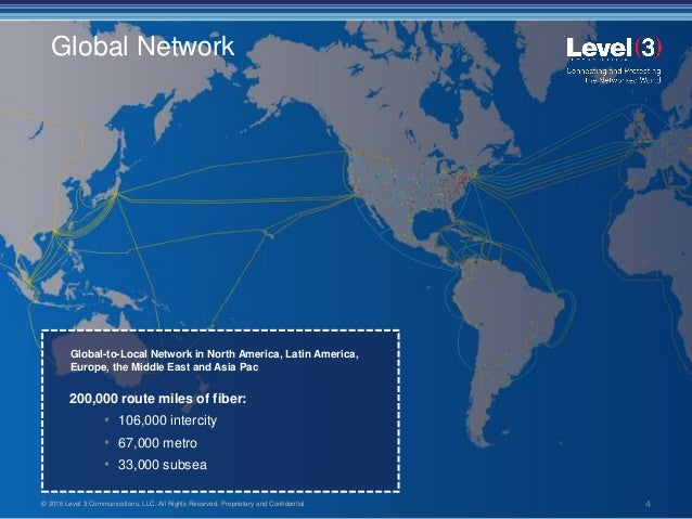 Level 3 Communications / Capabilities and Solutions Overview