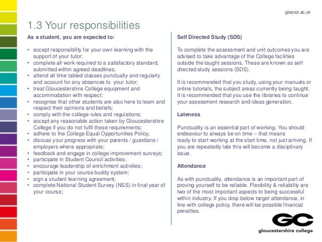 Gloucestershire College BTEC HNC in Construction Handbook