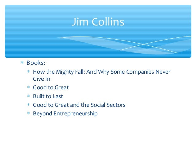 jim collins s good to great book Jim collins: good to great audio book summary written by jim collins, the book good to great focuses on companies and businesses, looking at reasons many companies are stuck on being good companies, while others excel and become great.
