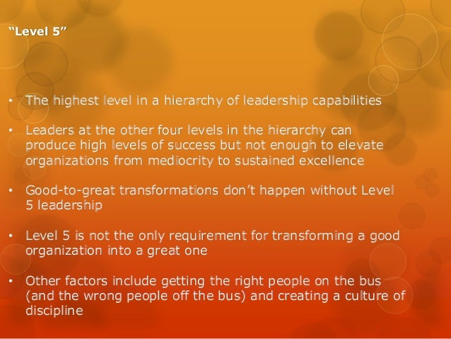 level 5 leadership the triumph of humility and fierce resloved 23 what leaders really do by john p kotter 60 crucibles of leadership by warren g bennis and robert j thomas hbr's 10 must reads on leadership 14 what makes an 70 level 5 leadership: the triumph of humility and fierce resolve by jim collins level disputes, and resolved the team's own dysfunctional.