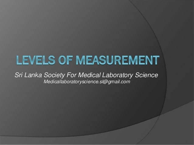 Sri Lanka Society For Medical Laboratory Science Medicallaboratoryscience.sl@gmail.com