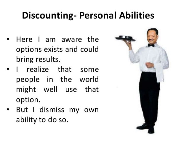 Levels of discounting (Transactional analysis / TA is an integrative …