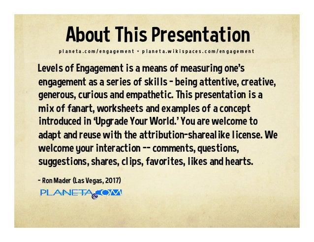 Levels of Engagement Slide 2