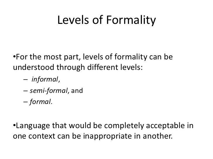 formal language in writing