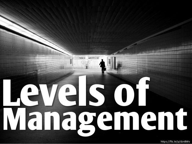 Levels of Managementhttps://flic.kr/p/dznBWv