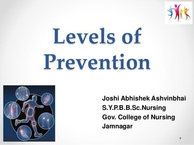 Levels of prevention Slide 2