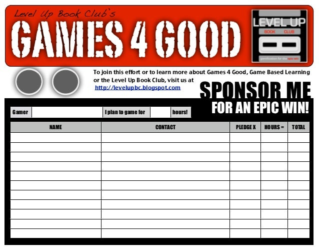 Level Up Book Club'sGAMES 4 GOOD   To join this effort or to learn more about Games 4 Good, Game Based Learning           ...