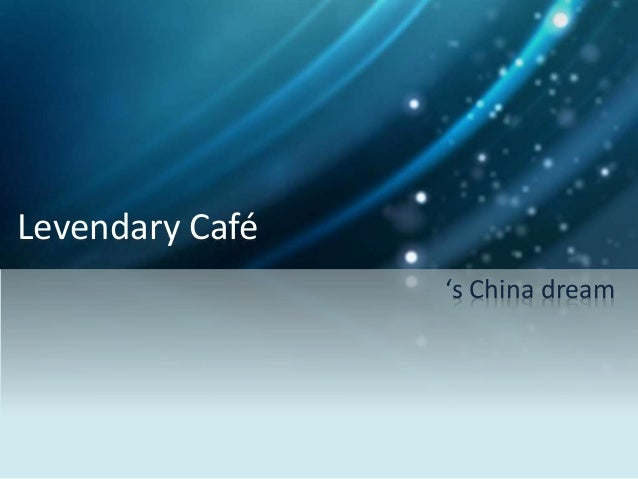 Levendary Cafe: The China Challenge (Brief Case)